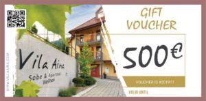 Gift Voucher Villa Aina Price 500e