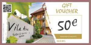 Gift Voucher Villa Aina Price 50e